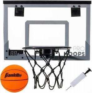 Franklin Sports Slam Dunk Over the Door Shatter Resistant Basketball Hoop