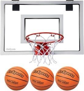 GoSports Basketball Door Hoop with Pump and Three Premium Basketballs