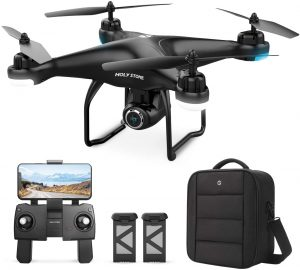 Holy Stone HS120D GPS Quadcopter Drone with 2K Camera and Carrying Backpack