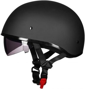ILM Motorcycle Half Helmet with Sunshield