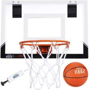 JAPER BEES Pro Wall Mount and Over The Door Mini Basketball Hoop