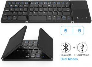 Jelly Comb Dual Mode Foldable Bluetooth & USB Wireless Keyboard