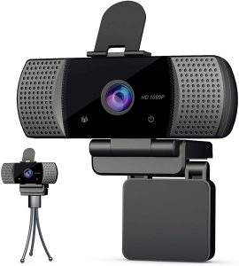 KOMKI Full 1080P HD Webcam with Microphone