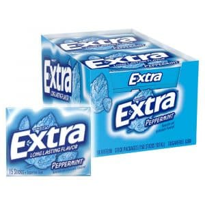 Peppermint Extra Gum Pack of 10 Chewing Gum