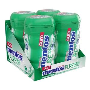 Sugar-Free Mentos Pure Bulk Pack of 4 Xylitol Chewing Gum