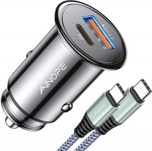 USB C Car Charger Super Mini AINOPE