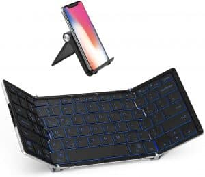 iClever BK05 Bluetooth Keyboard with 3-Color Backlight