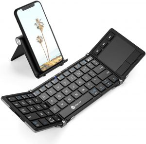 iClever BK08 Folding Bluetooth Keyboard with Sensitive Touchpad