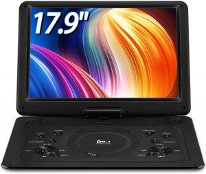 "DR. Q 17.9"" Portable DVD Player"