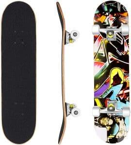 """Skateboard Hikole 31"""" x 8"""" Pro 7 Layer Skateboard"""
