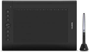 Huion H610 Pro V2 Tablet Tilt Function Drawing Tablet