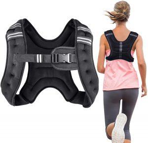 Henkelion Weighted Vest Jogging Workout Weight Vest, Blue Purple